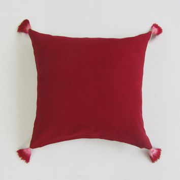 Reversible Square Pillows; Various Colors with Solid Plain Back: Red, Blue & Navy