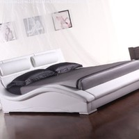 Napoli Contemporary Platform Bed-white (King)