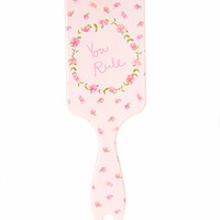 Floral You Rule Paddle Brush