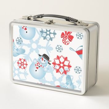 Christmas Pattern Metal Lunch Box