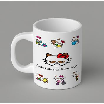 Gift Mugs | Hello No Kitty Grumpy Cats Ceramic Coffee Mugs