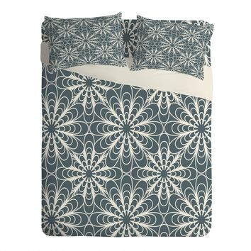 Heather Dutton Flora Midnight Sheet Set Lightweight