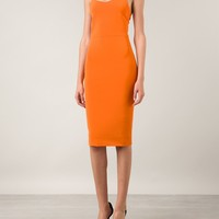 Victoria Beckham Buckle Straps Fitted Dress - Hirshleifers - Farfetch.com