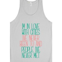 I'm in Love With-Unisex Silver Tank
