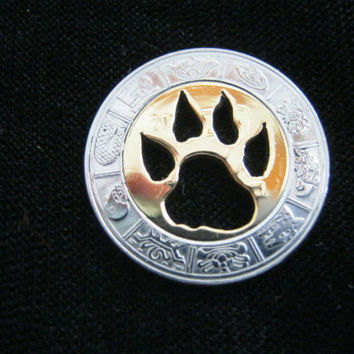 Bear' Paw cut coin by EdieBaron on Etsy