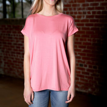Piko Wide Sleeve Top - strawberry ice