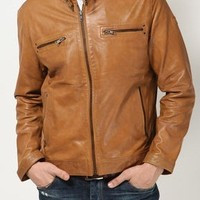 MENS LEATHER JACKETS, TAN COLOR LEATHER JACKET MEN'S