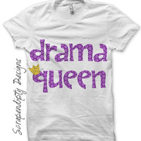 Drama Queen Iron on Shirt PDF - Girls Iron on Transfer / Drama Mean Girls Clothing / Kids Girls Tshirts DIY / Tween Girls Clothes IT132