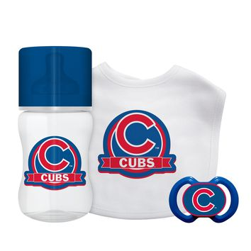 Chicago Cubs Baby Gift Set 3 Piece