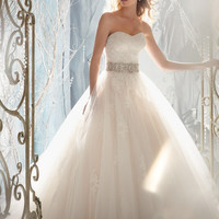 Mori Lee 1959 Lace Tulle Ball Gown Wedding Dress