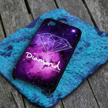 Diamond Supply Co in Galaxy iPhone 5 iPhone 4 / 4S Plastic Hard Case Soft Rubber Case