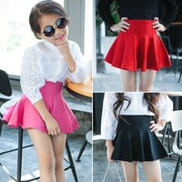 new Cute Child tutu Skirt Kids baby Pleated Wool Blend Skirt Knit Toddlers girls clothing