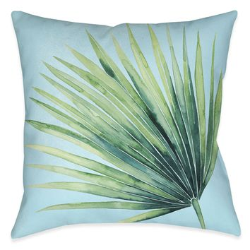 Tropical Palm Tree Leaves II Indoor Decorative Pillow