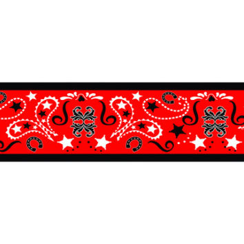 Red Bandana Wrist, Arm or Ankle Band Tattoo (Set)