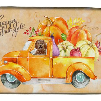 Fall Harvest Labradoodle Dish Drying Mat CK2623DDM