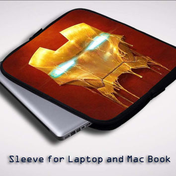 Iron man Mask X0016 Sleeve for Laptop, Macbook Pro, Macbook Air (Twin Sides)