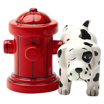 Dalmation Dog Magnetic Salt & Pepper Shaker Set