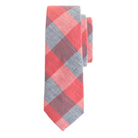 J.Crew Mens The Hill-Side Red And Blue Gingham Tie