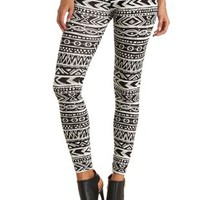 Tribal Print Leggings by Charlotte Russe - Black Combo