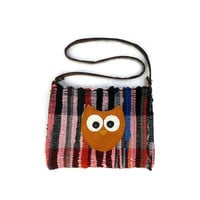 Athena Boho Kilim Bag - Owl motif messenger bag