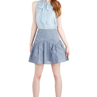 ModCloth Folk Art Short A-line Polo Picnic Skirt