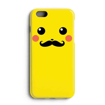 """Apple Iphone 6 4.7"""" Case - The Best 3d Full Wrap Iphone Case - Pikachu With Mustache"""