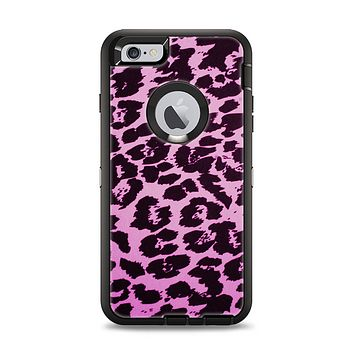 The Hot Pink Vector Leopard Print Apple iPhone 6 Plus Otterbox Defender Case Skin Set