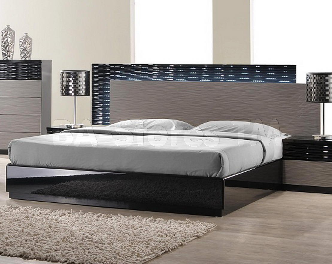 Beds contemporary platform bed modern from furniture nyc for Modern furniture nyc