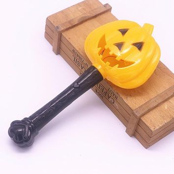 Halloween Pumpkin Ghost Magic Wand Luminous Witch Wand Funny Horror Scene Layout Children Toys Fine Drop Shipping