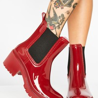 Devil Splish Splash Patent Boots
