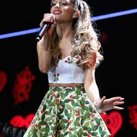Ariana Grande looked purrfectly festive at Jingle Ball in Saint Paul, | 'Tis the Season! Stars Get in the Holiday Spirit | POPSUGAR Celebrity