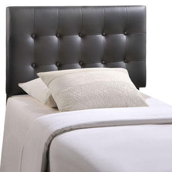 Emily Twin Faux Leather Tufted Headboard