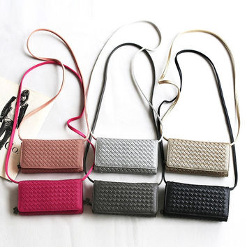 Korean Handcrafts One Shoulder Bags Ladies Zippers Wallet [4915807044]