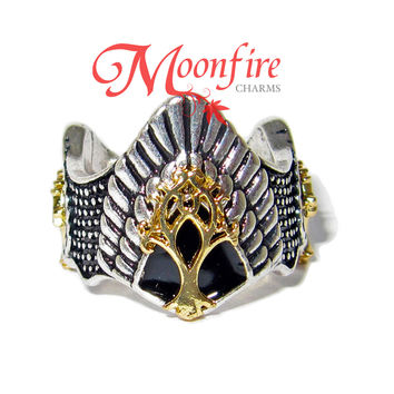 THE RING FELLOWSHIP Elvish King Crown Ring