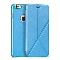 iPhone 6 Plus Case, Benuo [Candy Shell Series] [Unique Stand Design] Folio PU Leather Case Flip Cover [Ultra Hybrid Fit] [Logo Cut-Out] for Apple iPhone 6 Plus 5.5 inch *New Release* (Blue)