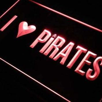 I Love Pirates LED Neon Light Sign