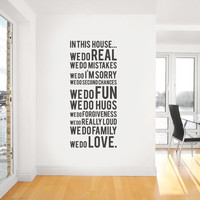 In This House We Do Wall Sticker