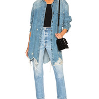 Alexander Wang Oversized Shirt Jacket in Vintage Light Indigo | FWRD