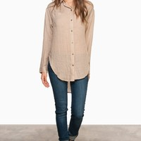 ShopSosie Style : Bolsa Blouse in Taupe