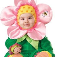 InCharacter Baby Blossom Costume, Green/Pink/Yellow, Medium
