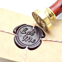 Eat Me B20 Gold Plated Wax Seal Stamp x 1