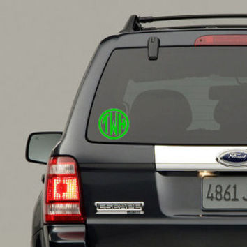 5 INCH CIRCLE MONOGRAM decal Great for Cars Macbooks Ipads or any Hard surface