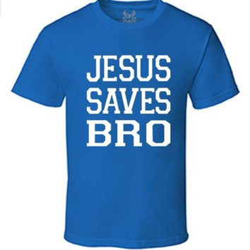 GRAPHIC CHRISTIAN DESIGN T-Shirt Gs-eagle Men's M009TS PRINTED JESUS SAVES BRO