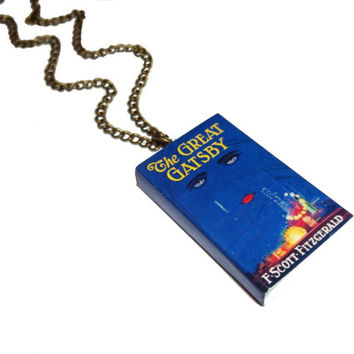 The Great Gatsby Miniature Book Necklace Jewelry