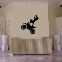 Dirtbike Rider MX X Games Version 103 Decal Sticker Wall