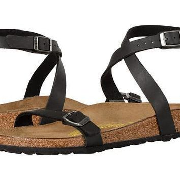 Birkenstock Daloa Sandals Flip Flops Black - Beauty Ticks