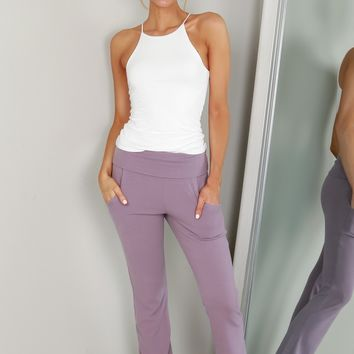 Rolled Sweatpants Antique Purple