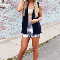 Seaside Navy Vest