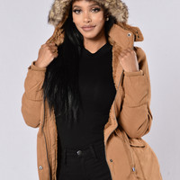 Warm With You Jacket - Tan