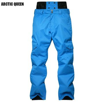 New Arrival Winter Men's Ski Pant Nylon And Spandex Fabric Filling Environmentally PP Cotton  Color Snowboarding Pant Size S-XL
